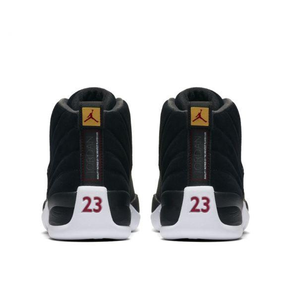 Кроссовки Air Jordan 12 Retro Reverse Taxi Black Gold 130690-017