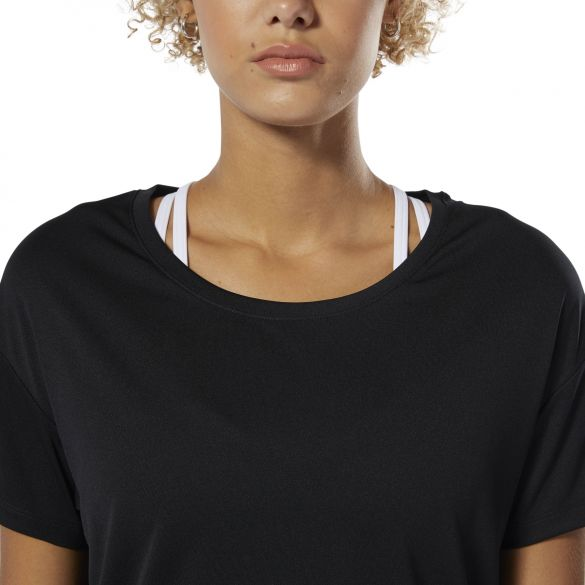 Спортивная футболка Reebok Wor Poly Tee Solid  Black DU4724