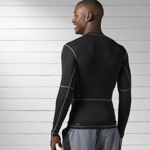 Компрессионная футболка Reebok Wor Compr Lo Sleeve Solid BK4180