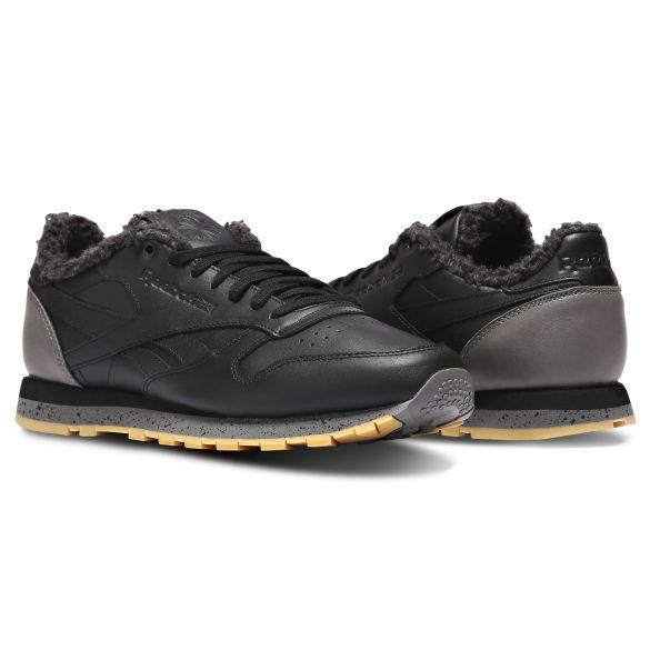 Мужские утепленные кроссовки Reebok Classic Leather  Sherpa Low CN1817