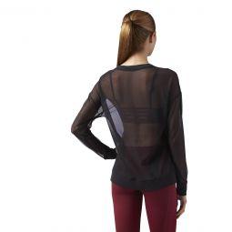 Женская футболка Reebok Mesh Longsleeve Tee CE4423